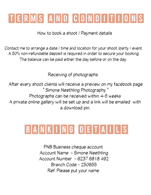 PACKAGES - Simone Neethling Photography